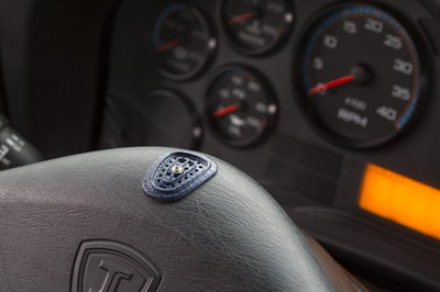 Sober Steering's sensor pad can be affixed to a steering wheel and detect the presence of alcohol within seconds of the driver placing their hand on it.