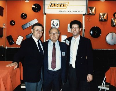 Rosco's Sol Englander (left), David Mostel, and Danny Englander are seen here at a trade show in 1987.