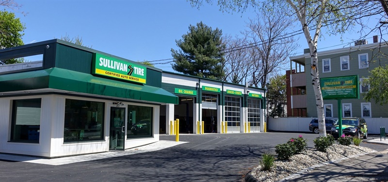 Sullivan Tire plans to renovate the Tom Lyons Tire and Auto Service outlet in Waltham, Mass., which was acquired in September. The Sullivan Tire and Auto Service store in Somerville, Mass., which opened in May 2016, is pictured.