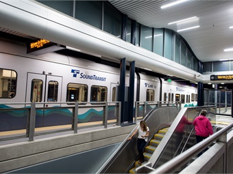 Trains on the 7.8-mile light rail extension from Angle Lake in SeaTac to Federal Way will serve three stations along the route in Kent/Des Moines, at South 272nd Street, and the Federal Way Transit Center.