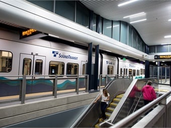 Sound Transit carried 24 million passengers on Link light rail in 2018 as it traveled between the University of Washington through downtown Seattle and to Sea Tac International Airport and Angle Lake.