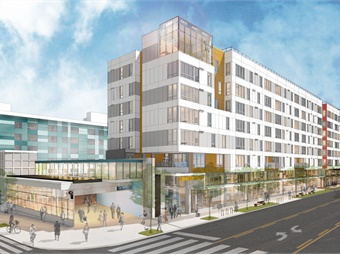 Rendering of the Capitol Hill Station Development, a transit-oriented, mixed-income and mixed-use development project that will surround the Capitol Hill light rail station when it opens in 2020. Image: Gerding Edlen