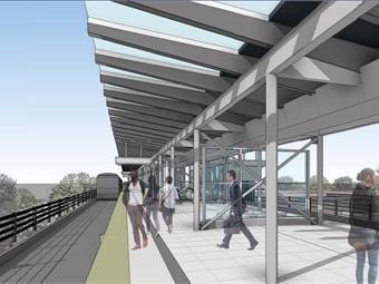 Rendering of a station platform for Sound Transit's LynnwoodLink light rail extension. Courtesy Sound Transit