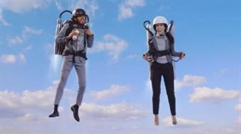 Screenshot of Sound Transit's new video campaign, which pokes fun at futuristic travel tech mishaps. Sound Transit