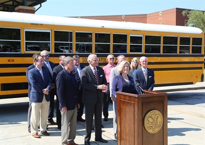The stateannounced that it will use $9.33 million of its Volkswagen settlement funds to purchase a total of 78 new propane school buses and three transit buses. Photo courtesy South Carolina Department of Education