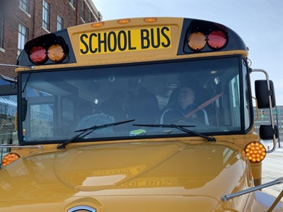 The South Bend (Ind.) Community School Corp. will install 192 stop-arm cameras on its buses. Photo courtesy South Bend Community School Corp.