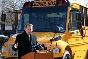 "South Carolina State Superintendent Mick Zais called a new bus purchase ""the first step in modernizing the nation's oldest school bus fleet."""