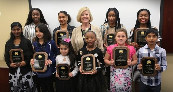 In South Carolina, state Superintendent Molly Spearman recognized the state's 2017 National School Bus Safety Poster Contest winners.