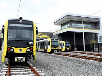 The $172-million rail maintenance facility that will serve the future Crenshaw/LAX Line and Metro Green Line was designed and built by Hensel Phelps Herzog (HPH) under contract with Metro. LA Metro