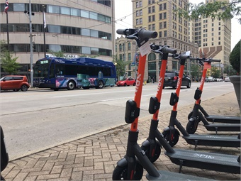 The Greater Dayton Regional Transit Authority is partnering with e-scooter company, Spin, to bring the first electric scooters to the Dayton region.
