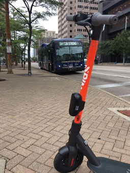 At a launch party for the new mobility option, the RTA was part of the first rides for the e-scooters in the city.