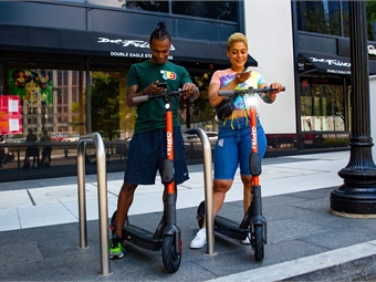 Early data suggests most scooter trips are between one and two miles long. Spin
