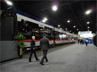 Stadler and the Texas-based Fort Worth Transportation Authority introduced the first FLIRT for the TEXRail commuter rail line at APTA Expo 2017 in Atlanta.