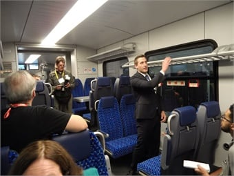 Each train comes equipped with 224 seats with side tables and USB ports as well as an ADA toilet, thereby meeting the various convenience requirements of passengers.