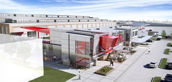The Utah Transit Authority (UTA) recently broke ground on its new bus operations, maintenance and administration facility, known as the Depot District Clean Fuels Technology Center. Rendering: Stantec