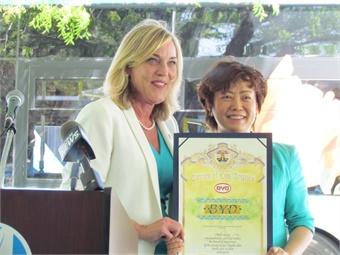 BYD President Stella Li and Supervisor Barger