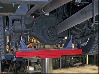 Stertil-Koni's new inground lift adapter kit for the DIAMONDLIFT and ECOLIFT meet the requirements of today's trucks, school buses, and transit buses' axle sizes.