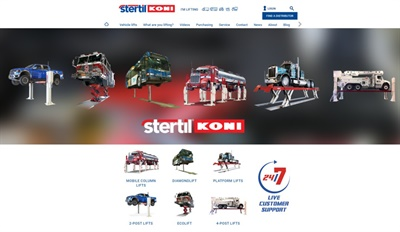 Stertil-Koni's new website is designed to fit the viewing screen of any device, and showcases features of its heavy duty vehicle lifting systems and related shop equipment and accessories.