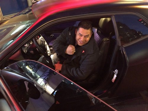 Retired Marine Cpl. Steven Diaz Diaz, a combat-wounded veteran of Operation Iraqi Freedom, received the Nexen Tire Dodge Challenger R/T live on Fox and Friends alongside Nexen representatives and Purple Heart Foundation leadership.