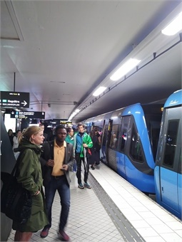 """The """"Tunnelbana"""" metro/ subway system is fairly comprehensive in coverage and the three main lines provide branches both north and south of the city. All photos courtesy Giles Bailey"""