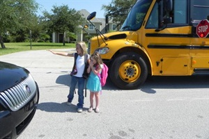 This year's one-day sample of 88,025 vehicles illegally passing buses represents nearly 16 million violations in one school year. Staged photo courtesy of Florida's Brevard Public Schools