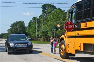 Over 100,000 school bus drivers in 26 states took part in this year's one-day count of stop-arm violations. Staged photo courtesy Brevard Public Schools