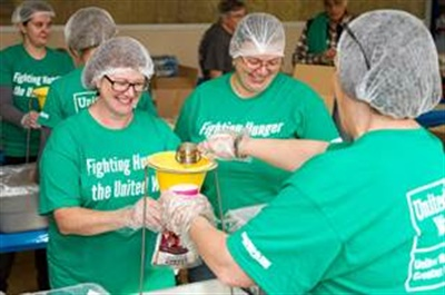 Volunteers from Sullivan Tire & Auto Service recently partnered with United Way of Greater Plymouth County in Massachusetts to pack over 18,000 nutrient-minded meals for those in need.