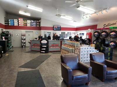 """Twenty employees work from a small campus of four buildings at Sullivan's Tire Pros near Yosemite National Park. Michael Sullivan says ITDG has been key to the success of the tire business, which is tourist-driven and heavily focused on passenger and light truck tire sales. """"We like to consider ourselves the dealer alternative."""""""