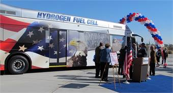 SunLine Transit's fuel cell bus, powered by BAE Systems' HybriDrive propulsion system.