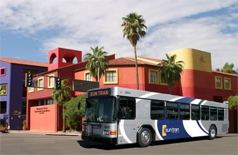 SunTran's standard 40-foot biodiesel bus.