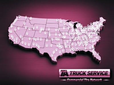 TA Truck Service Commercial Tire Network now holds the top spot on MTD's Top 25 Commercial Tire Dealers ranking with 244 outlets. Watch for an update in our October issue.
