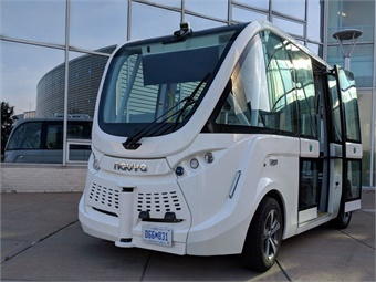 NAVYA's self-driving Autonom Shuttle. Photo: TARTA