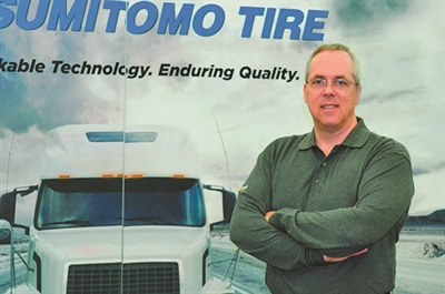 """""""Sumitomo has always been known as a very good performing, consistent program,"""" says Bill Dashiell, senior vice president of TBC's Commercial Tire Division."""