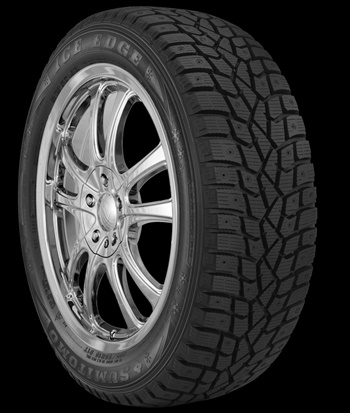 The new Sumitomo Ice Edge studdable winter tire from TBC Brands is now available in North America in 57 sizes for 14-inch to 20-inch rim diameters.