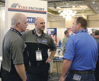 """Interim CEO Walter Lybeck, center, told dealers, """"I need to earn your business. I cannot expect your loyalty."""" Tire Factory had 205 stores and $92 million in sales in 2015. The goal for 2016 is 255 stores and $100 million in sales."""