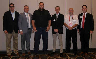 TIA President David Martin (far right) is pictured with new TIA board members (from left): Daniel Childers, Brad Feeney, Mason Hess, Russ Devens and Thomas Kirk Huls.
