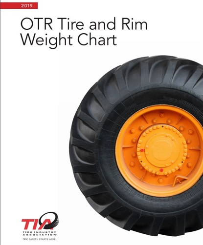 TIA has assembled the average and maximum weights of more than 600 off-the-road tires and wheels and assembled them into a pair of free, downloadable documents.