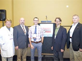 TMF participants: Halsey King, VIA Metropolitan Transit's Gary Glasscick, APTA's Jeff Hiott, the FTA's Marcel Belanger and Booz Allen Hamilton's Steve Brady.
