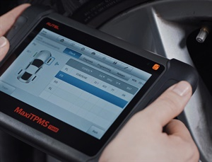 Scan tools are available to allow technicians to activate, read and relearn all known models of TPMS sensors. Courtesy of Autel.