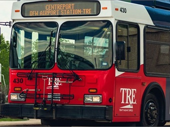 At DFW Remote South, passengers can easily transfer to buses serving either Terminals A, B, and C or Terminals D and E. TRE