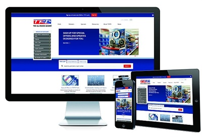 TRP's new online catalog is designed to provide a more efficient online parts experience by using industry-standard vehicle maintenance reporting standards codes as a navigation tool.