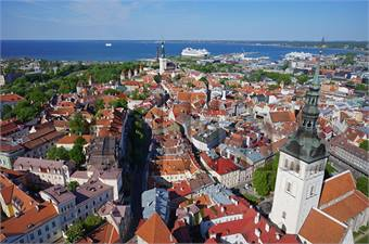 Tallinn, Estonia's view of Old Town. Photo by Marko Leppik, via Tallinn City Tourist Office & Convention Bureau