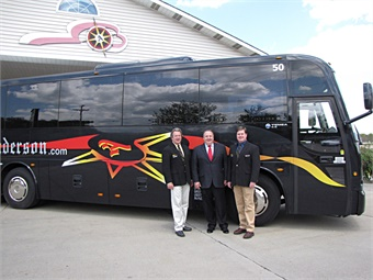 (From L to R): Doug Anderson, president of Anderson Coach; Tony Mongiovi, VP, sales & service CH Bus Sales; and Ryan Nicklin, director, HR and Safety Compliance, for Anderson Coach.