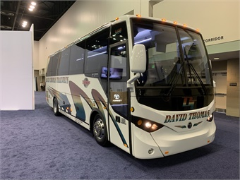 And on Wednesday, TEMSA re-wrapped the bus to deliver the first TS30 to Philadelphia's David Thomas Trailways.