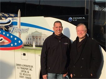 DC Trails' Founder/President Bill Torres (left) with CH Bus Sales President/CEO Bob Foley.