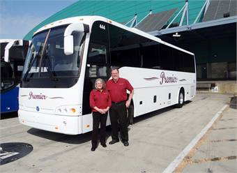 John & Cindy Burnett, owners of Premier Coaches Northwest.