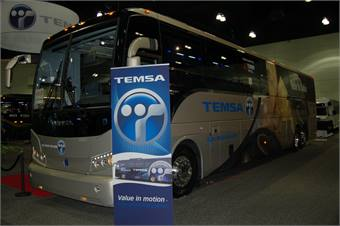 Temsa/CH Bus unveil 45-ft  coach, honor first buyer - Motorcoach