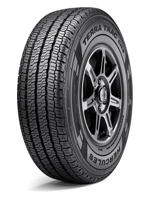 The new Hercules Terra Trac CH4's reinforced cross-link tread compound is designed to endure high torque and load applications.