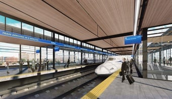 Conceptual rendering of Texas Central Railway's high-speed rail system.Texas Central Railway