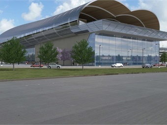 Texas bullet train rendering of Houston station. Image: Texas Central Partners